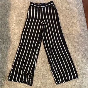 1.STATE Striped wide leg trouser